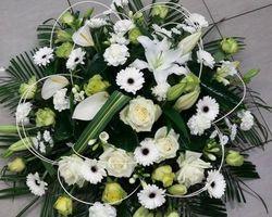 Infiniment Fleurs -  Landerneau - Deuil -  Coussin rond 1