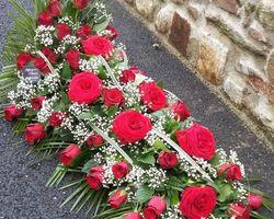 Infiniment Fleurs -  Landerneau - Deuil -   Dessus de cercueil 3