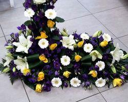Infiniment Fleurs -  Landerneau - Deuil -  Devant de cercueil en L 2