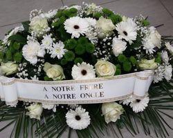Infiniment Fleurs -  Landerneau - Deuil -  Coussin ovoïde 1