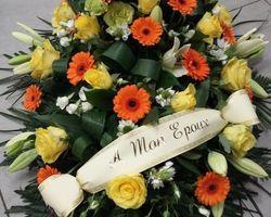 Infiniment Fleurs -  Landerneau - Deuil -  Dessus de cercueil 4