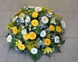 Infiniment Fleurs -  Landerneau - Deuil -  Coussin rond 11