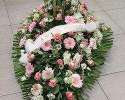 Infiniment Fleurs -  Landerneau - Deuil -  Dessus de cercueil 5a