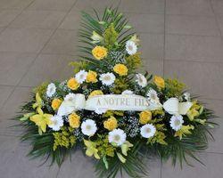 Infiniment Fleurs -  Landerneau - Deuil -  Devant de cercueil 4