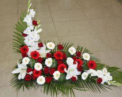 Infiniment Fleurs -  Landerneau - Deuil -  Devant de cercueil en L 5