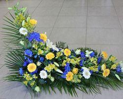 Infiniment Fleurs -  Landerneau - Deuil -  Devant de cercueil en L 1