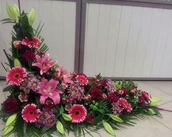 Infiniment Fleurs -  Landerneau - Deuil -  Devant de cercueil en L 4
