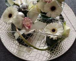 Infiniment Fleurs - Landerneau - Présentation sur assiette