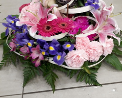 Infiniment Fleurs - Landerneau - Deuil Actualisé - coussin rond